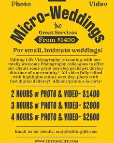 Check out this new photo Totally Awesome, All Video, Intimate Weddings, Videography, Check, Garlic