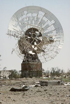 Abandoned satellite dish