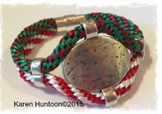 Happy Holidays Kumihimo Hammered Oval Accent Bracelet Kit
