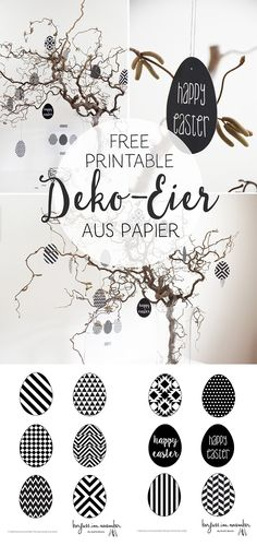 {DIY} Geometrische Deko-Eier aus Papier in black & white & free printable DIY & Deko-Eier aus Papier & free printable The post {DIY} Geometrische Deko-Eier aus Papier in black & white & free printable & Ostern easter appeared first on Geometric decor . Diy Party Dekoration, Spring Decoration, Scrapbook Paper, Scrapbooking, Papier Diy, Diy Ostern, Geometric Decor, Idee Diy, Diy Décoration