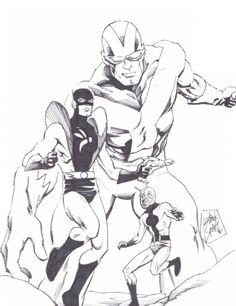 Hank Pym, Ant-Man, Yellowjacket, and Goliath by Steve Lightle