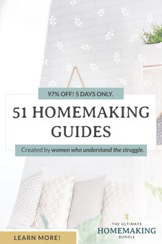 Join over 139,000 women who have said YES to the Ultimate Homemaking Bundle since 2013. Get 51 eBooks, eCourses, and printables designed to help you declutter and organize your home, meal plan and serve healthier meals, plus resources for parenting, strengthening your marriage, and much more. 97% off. 5 days only. Learn more! #healthylife #happyhome #homemaking #women #mealplan #parenting #organize #afflink Chore Chart Kids, Chore Charts, Cleaning Oven Racks, Kids Planner, Routine Planner, Peaceful Home, Interesting Blogs, Learning Activities, Toddler Learning