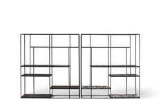 NAME: Hill TYPOLOGY: Bookcase made of metal and marble CLIENT: Ivano Redaelli YEAR: 2013