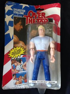 Over The Top John Golden Boy Brzenk Arm Wrestler Action Figure Stallone 1986 Box #LEWCOCORP #overthetop #armwrestling #stallone