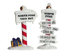Lemax Village Collection North Pole Signs Set of 2 # 6445... https://www.amazon.com/dp/B005GZ1Q5W/ref=cm_sw_r_pi_dp_x_FiVkybQJKZRWP