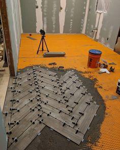 Ideas For Wood Plank Tile Floor Bathroom Herringbone Pattern Plank Tile Flooring, Wood Plank Tile, Wood Tile Floors, Diy Flooring, Wood Planks, Kitchen Flooring, Ceramic Wood Tile Floor, Bathroom Floor Tiles, Wood Bathroom