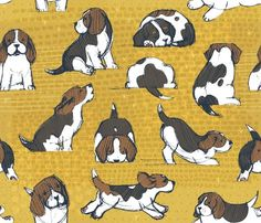 Beagle Puppies by Friztin - friztin - Spoonflower