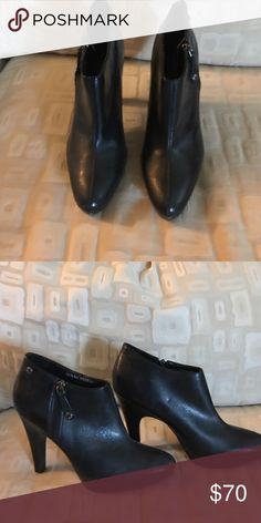 Isaac Mizrahi boots Perfect condition no scuff marks   Zips on side about a 3 inch heel Isaac Mizrahi Shoes Ankle Boots & Booties