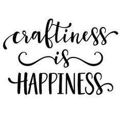 Silhouette Design Store: Craftiness Is Happiness Silhouette Cameo Projects, Silhouette Design, Silhouette Images, Silhouette Files, Vinyl Crafts, Vinyl Projects, Carpe Diem, Craft Room Signs, Craft Room Decor