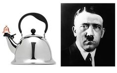 JCPenney had an L.A. Billboard for a Tea Kettle — and It looked like Adolf Hitler... The Hitler-esque kettle is actually known as the Michael Graves Design Bells and Whistles Stainless Steel Kettle, retailing for $40... Naturally, the piece of mid-afternoon May 28 2013 Internet history sold out in a matter of hours...