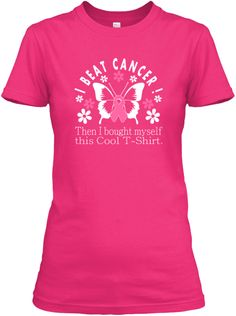 COOL I Beat Cancer printed Survivor Tees. #findacure