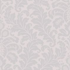Traditional Damask Wallpaper in Greys design by Candice Olson