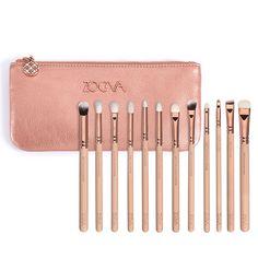 Mooie kwaliteit Zoeva 12 stuks rose golden compleet eye set oogschaduw eyeliner blending potlood up kwasten