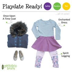 All dressed up to play Bean! | Peekaboo Beans - playwear for kids on the grow! | Contact your local Play Stylist or shop On-Vine at www.peekaboobeans.com | #PBPlayfulPairings