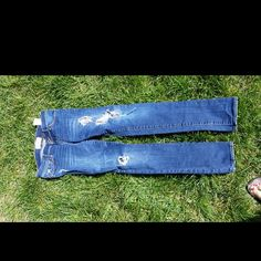♡♡♡Abercrombie jeans size 14 girls Super cute distressed jeans front and back pocket Abercrombie & Fitch Jeans
