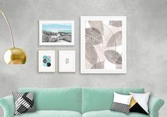 Set of 4, Botanical print set, Abstract art, Leaf, Wall art, Modern, Typographic art, Minimalist print, inhale exhale, Beach, Giclee print.  ❥ Be right on trend with this beautiful and genuine handmade Modern Wall Art giclee set, featuring 4 modern designs that work perfectly together - 50/40 - An abstract botanical print - scattered leaves in different designs in light brown-gray. 21/30 - A beautiful beach with an inspirational quote Breath written in the sky in a delicate white ha...