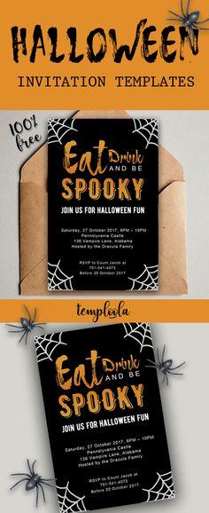 10 Best Halloween invitation templates in Word images Halloween