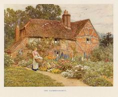 Cottage and Garden by Helen Allingham