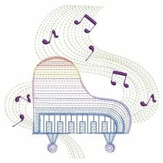 Rippled Music Notes 10 - 3 Sizes! | Music | Machine Embroidery Designs | SWAKembroidery.com Ace Points Embroidery