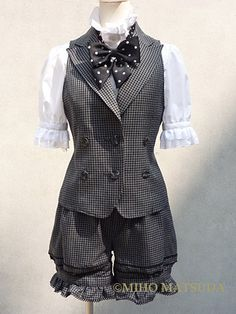 Absolutely love these short suits from Miho Matsuda LOVE them!