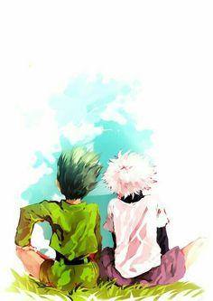 """""""Meu melhor amigo em todo o mundo""""-Gon """"Eu farei qualquer coisa para proteger o Gon! Porque somos amigos""""-Killua ❤️❤️❤️❤️❤️❤️❤️❤️❤️❤️"""