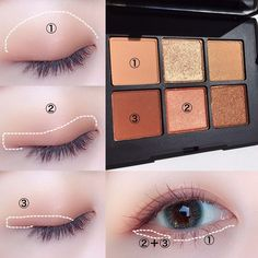 makeup vs no eye makeup eye makeup makeup looks 2020 makeup and pink eye for eye makeup de ojo 80s Eye Makeup, Asian Eye Makeup, Makeup Eyeshadow, Makeup Pics, Korean Eyeshadow, Makeup Quotes, Korean Makeup Tips, Korean Makeup Tutorials, Makeup Guide