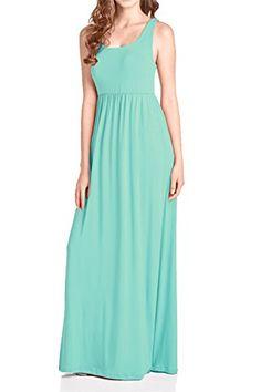 1a837ff6381ae Beachcoco Women's Maxi Tank Dress (M, Mint) Beachcoco https://www