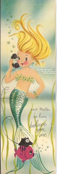 Vintage Norcross Valentines Day Greeting Cards (Lot of Fish Lips Half Pint 3 Mermaid Sign, Siren Mermaid, Mermaid Fairy, Cute Mermaid, Vintage Mermaid, Mermaid Lagoon, Valentines Greetings, Vintage Valentine Cards, Valentines Art