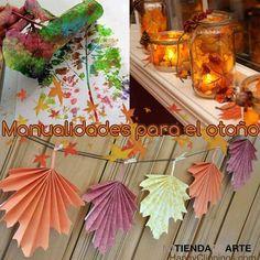 Manualidades para el otoño #DIY  Todo lo que necesitas para scrapbooking y manualidades en mitiendadearte.com