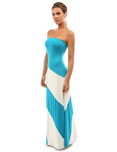 Women's Striped Tube Maxi Dress