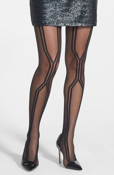 Fall must have - tights with patterns.