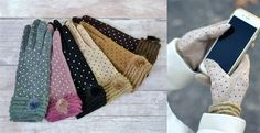 Lowest Price! Cashmere Touch Screen Gloves - 6 Colors