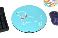 Sausage Dog puppy Greg Abbott mouse pad