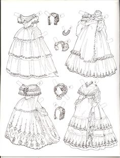 Enchanted Ladies by Susan Sirkis paper doll page 2