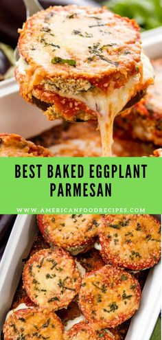 Baked Eggplant Parm is a classic way to serve this tasty vegetable.