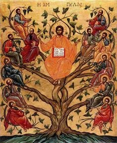 Pictures showing Jesus as the True vine - Yahoo Search Results Yahoo Image Search Results Religious People, Religious Icons, Religious Art, Ocd, Jesus Tree, True Vine, Byzantine Icons, Orthodox Icons, Sacred Art