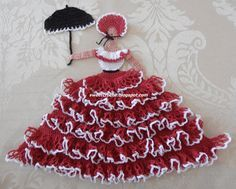 free+crochet+crinoline+lady+patterns | Crinoline Lady in Red