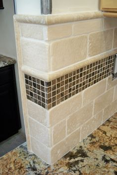 Travertine With Polished Marble Dots Jtholroyd Gmail Custom Tile Work Pinterest Marbles And