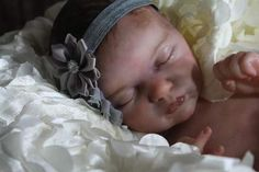 Evangeline SOLE By Humble Hearts Nursery - Welcome this STUNNING BEAUTY This sculpt by Laura Lee Eagles is just Breathtaking!Painted with Genesis Heat Set paints layer upon thin layer Capillaries and veining is subtle to mimic a real newbornGorgeous skin tonesPainted hair is beautiful dimensional and so l...