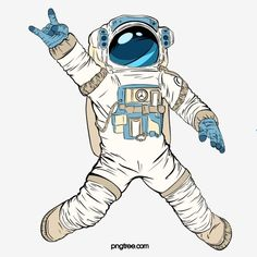 Rock Astronaut Illustration Pop Spoof Illustration Elements, Dance Clipart, Astronaut, Rock PNG Transparent Clipart Image and PSD File for Free Download