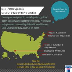 Local elected officials and community leaders have signed our Proclamation urging Congress to strengthen the economic security of America's workers, retirees and their families by boosting #SocialSecurity. Did yours sign the Proclamation? Click the graphic above to see.