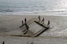 Climbing Stairs on the Beach Optical Illusion - http://www.moillusions.com/climbing-stairs-beach-optical-illusion/