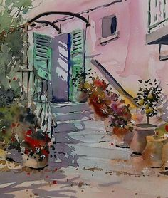 Provence - Grahame Booth Watercolor And Ink, Watercolours, Abstract, Provence, Graham, Sketching, Illustration, Artwork, Painting