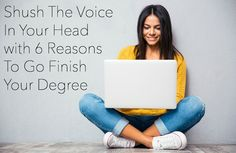 Shush The Voice In Your Head with 6 Reasons To Go Finish Your Degree | Life with kiddos can seem crazy and that calendar is packed, BUT you'd be surprised how easy it can be to fit your education into your already busy life. via @todaysmama