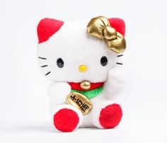 OMK!!! Have you seen these super adorable Hello Kitty Lucky Cat Mascot plushes!? Too freakin' cute!*FOR REAL*! I always love any design where Hello Kitty represents maneki neko(or lucky cat…