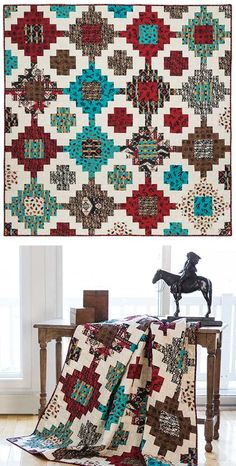 Stacked Quilt Pattern out of stock. how can a quilt pattern be out of stock? heard of a copier or scanner Keepsake Quilting?Stacked Quilt Pattern Jessica VanDenburgh I have the perfect fabric for this!Keepsake Quilting features a rich collection of high-q Quilt Kits, Quilt Blocks, Southwestern Quilts, Cowboy Quilt, Indian Quilt, Keepsake Quilting, Quilt Modernen, Panel Quilts, Cotton Quilting Fabric