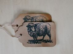Primitive Country Rustic Farmhouse Hang Tag Gift tag Craft supply Grazing Woolly Sheep 25 tags medium on Etsy, $4.99