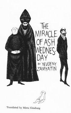 Illustration of a Zamyatin short story from the genius pen of Edward Gorey.
