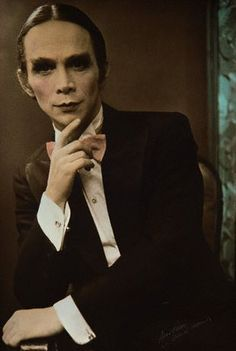 Joel Grey as the MC in Cabaret. The role he originated both on Broadway and on film, winning both a Tony and an Oscar for the same role.