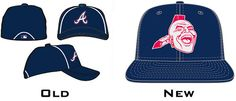 New logos for MLB batting practice caps -- The Atlanta Braves design is quite controversial!